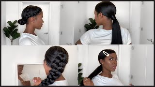 Simple Hairstyles using my BetterLength Clip-Ins| Relaxed Hair