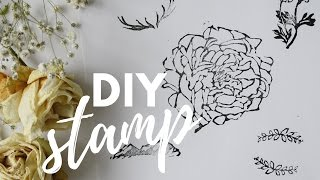 HOW TO MAKE RUBBER STAMP TUTORIAL | Katie Jobling Art
