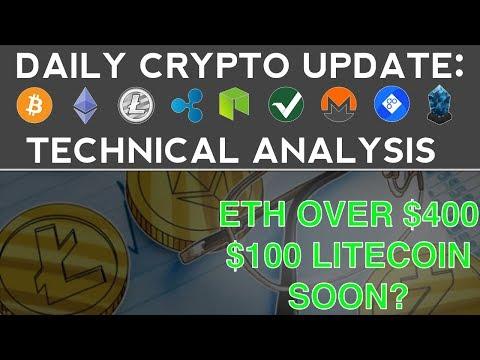 CRYPTOS SOAR!! $450 ETH & $100 LITECOIN SOON? (11/24/17) Daily Update + Technical Analysis