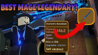 I Got The Legendary Overlord's Manablade! + Solo Nightmare HC Canals Dungeon! (Roblox Dungeon Quest)