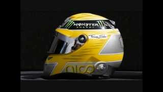 F1 Helmets From Season 2013