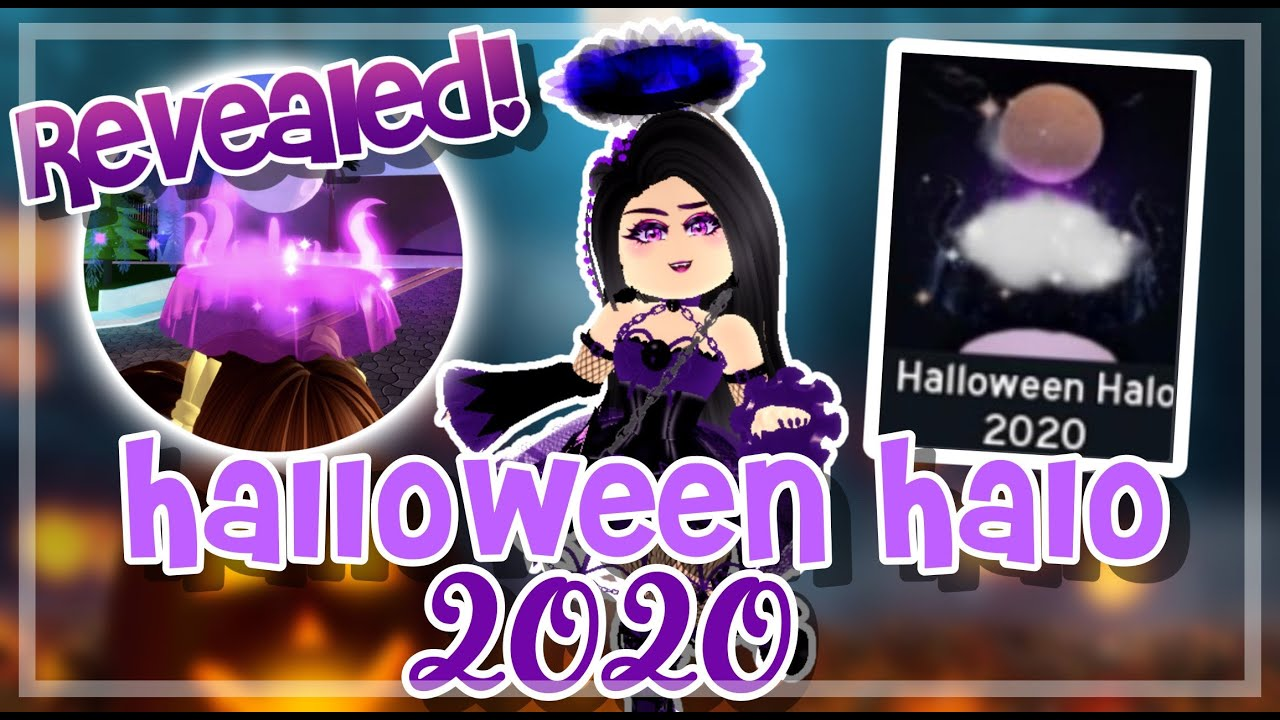 This halo was gifted to players at the 2018 hallowen. *REVEALED!* HALLOWEEN HALO 2020 OUT + FOUNTAIN STORIES!   Royale High UPDATE - YouTube