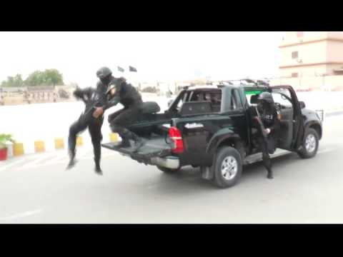 IGP Sindh Mr. A.D. Khowaja visited Special Security Unit Head Quarter on April 1, 2016.