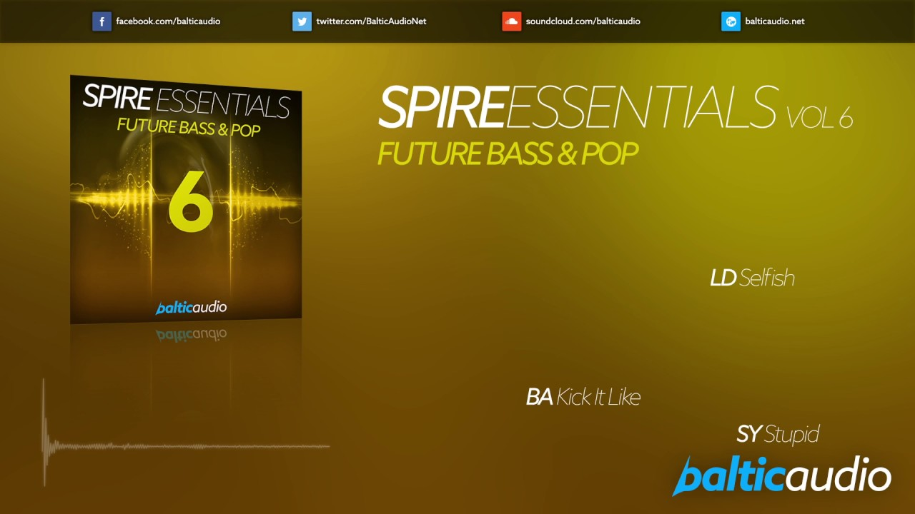 Spire Essentials Vol 6: Future Bass & Pop (64 Spire presets, 60+ MIDI files)