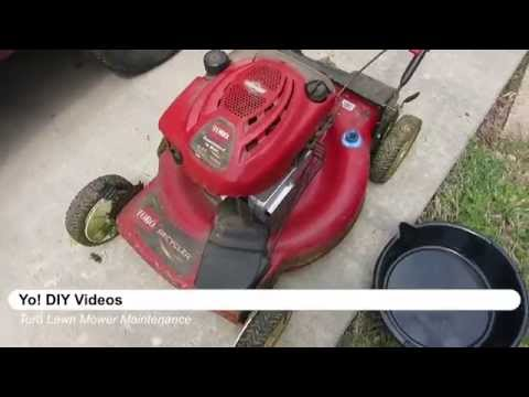 Lawn Mower Maintenance - Toro Recycler,briggs stratton, oil change, filter, and spark plug change.