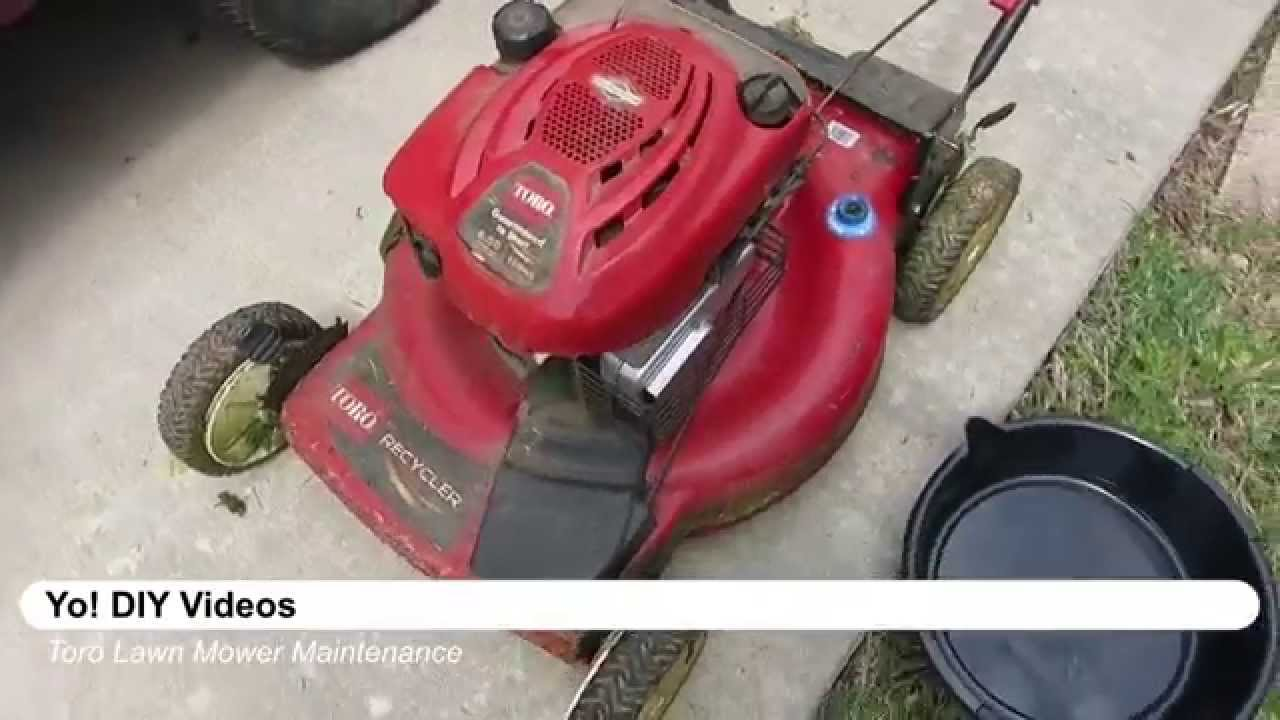 Lawn Mower Maintenance Toro Recycler Briggs Stratton Oil Change Filter And Spark Plug You