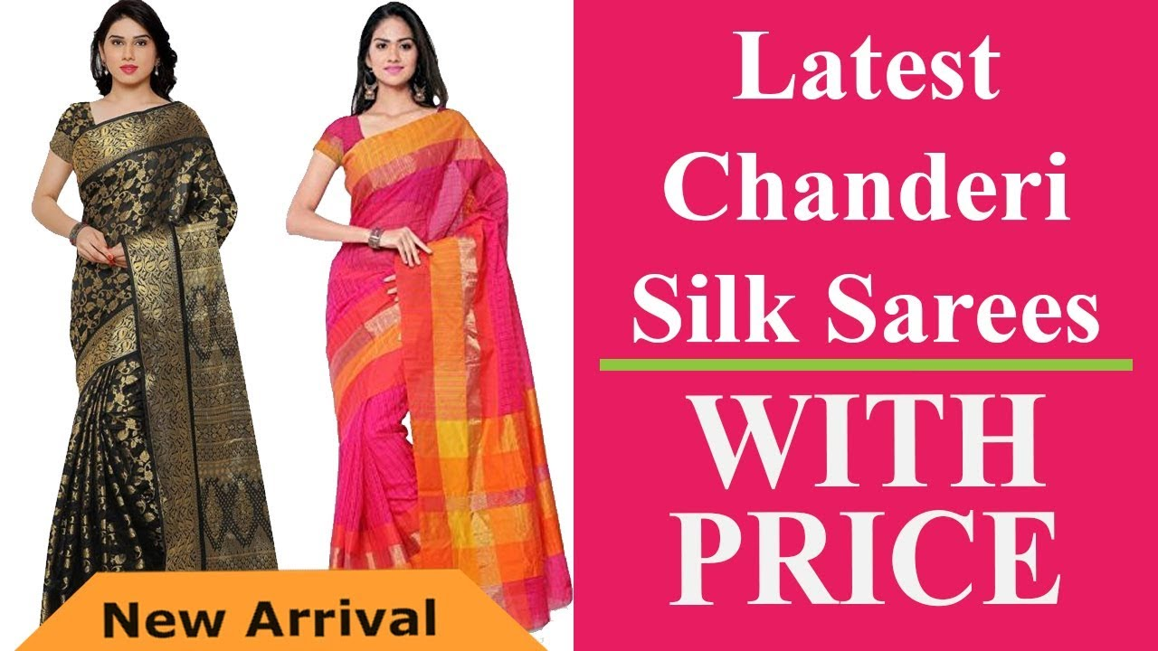 ace5d418515 Latest Chanderi Silk Sarees with Price - YouTube