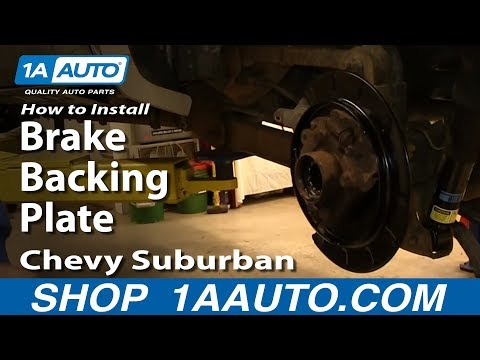 How To Install Replace Rear Brake Backing Plate 2000-06 Chevy Suburban Tahoe GMC Yukon