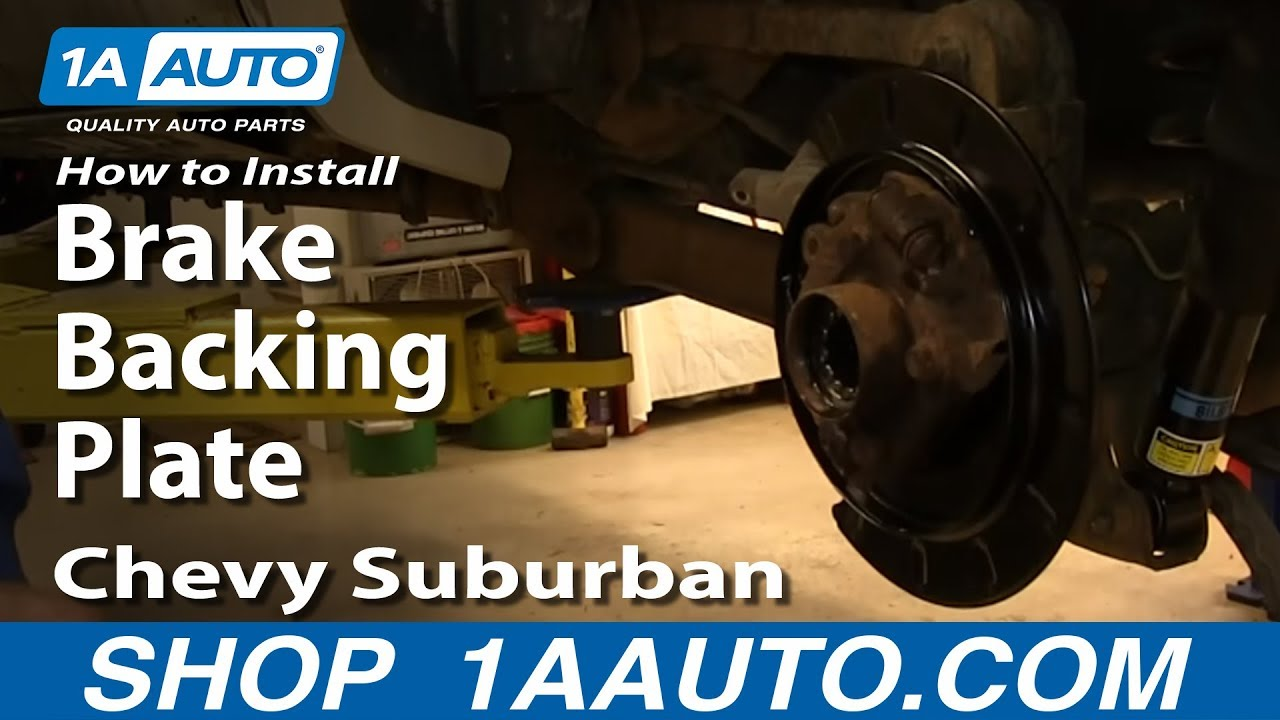 How To Install Replace Rear Brake Backing Plate 2000 06 Chevy Diagram Electrical Wiring 99 Astro Suburban Tahoe Gmc Yukon Youtube