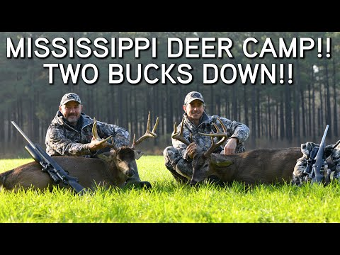 Mississippi Deer Hunting In January!! | Two Bucks Down!!