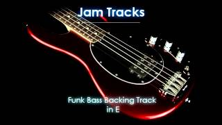 Funk Bass Backing Track in E - TheGuitarLab.net -