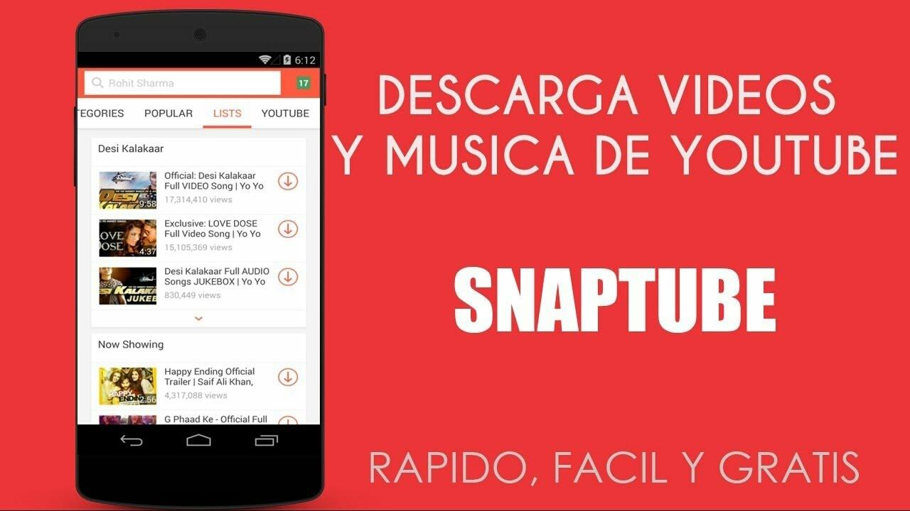 Descarga Música Y Vídeos En Hd De Youtube Gratis Snap Tube Youtube