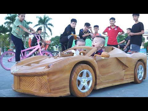 A Poor Wood Worker Builds a Car FERRARI APERTA For His Son
