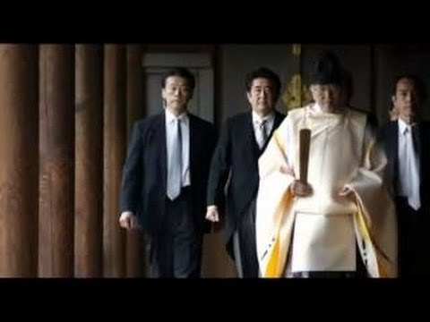 Japanese Prime Minister Visits Yasukuni War Shrine, Japan PM Shinzo Abe visits Yasukuni WW2 Shrine
