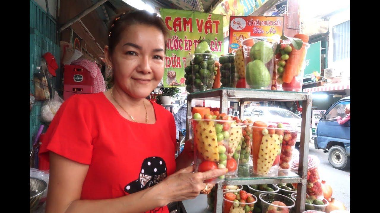 Chị Út Sài Gòn bán cả ngàn lít nước ép trái cây phục vụ người muốn trẻ đẹp