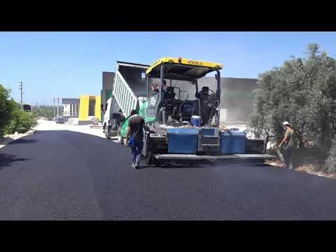 Tömük'te sıcak asfalt sevinci