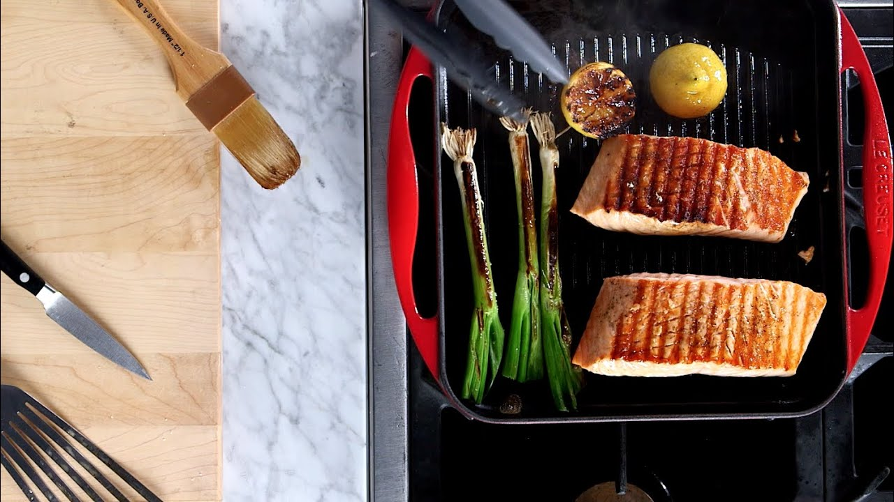 Simple Grilled Salmon In The Le Creuset Reservoir Grill