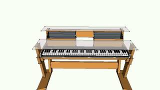 Studio Desk/Keyboard Workstation - Model