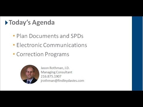 First Aid for Employee Benefit Plans Webinar Recording
