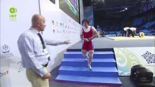 Women 75kg A Clean & Jerk 2014 World Weightlifting Championships