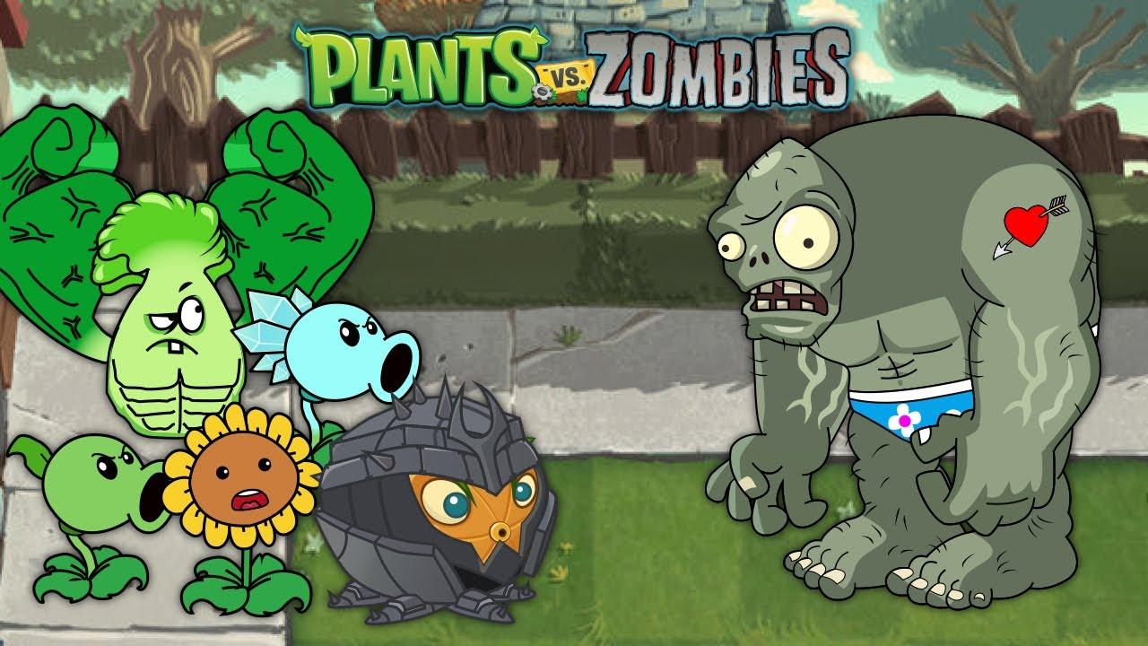 Plants vs Zombies - Citron Heroes vs Bonk Choy vs Peashooter vs Zombie