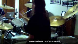 "Eternal North. ""Manipulated and Silenced"" Drum Play through (Guitar Backing Track)"