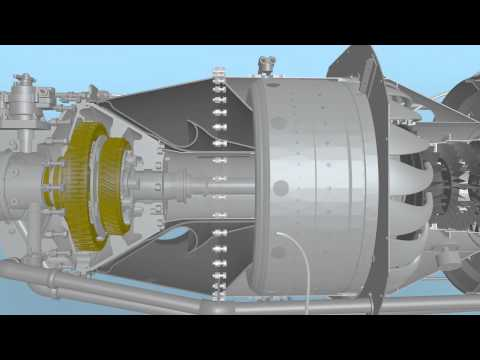 Pratt Whitney PT6A Turboprop Turbine Animation