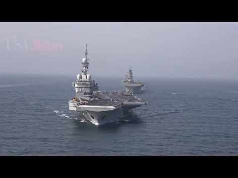 High Tension!! China Warns UK With Violent Explosion Exploded Beside Aircraft Carrier Sailing In SCS