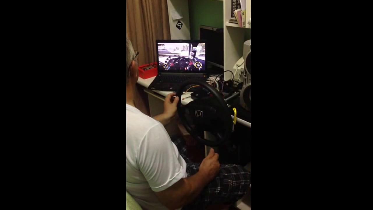 Racing wheel – XInput X360 controller – Engenharia & Gambiarras