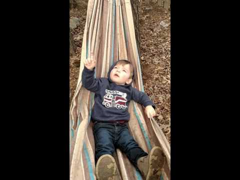 Isaac on the hammock