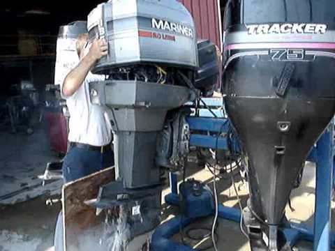 1995 MERCURY MARINER 135 HP OUTBOARD YouTube