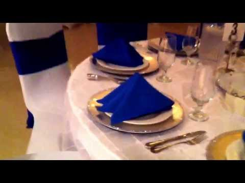 Royal Blue White and Silver Wedding at St Sava Event Center in Broadview Heights