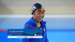 Haven Shepheard Wins Silver In SB7 100m Breaststroke | Parapan American Games Lima 2019