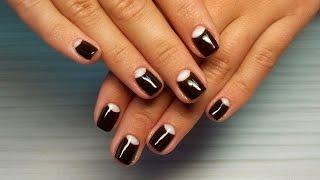 Дизайн ногтей гель-лак Shellac - Маникюр Dior / Лунный маникюр (уроки дизайна ногтей) Nail tutorial