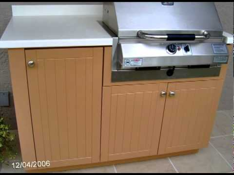 outdoor kitchen bbq electric grill cabinets youtube. Black Bedroom Furniture Sets. Home Design Ideas