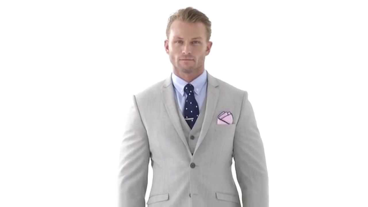 Custom Tailored 3-Piece Light Grey Suit - YouTube