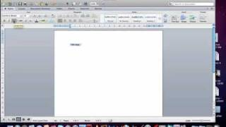 Introduction to Microsoft Word 2011 on Mac (Word Document Layout)