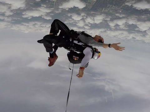 WATCH: Brad Brown takes a dive with Red Bull Air Force over IMS