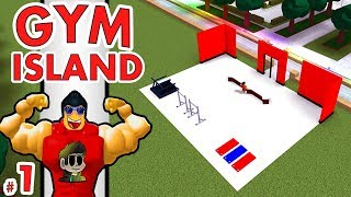 BUILDING A GYM in Roblox | Gym Island #1