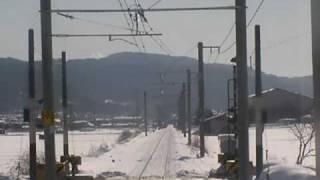 JR大糸線 信濃木崎駅~北大町駅 前面展望
