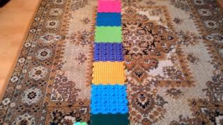 видео Ортопедический массажный коврик для детей fosta