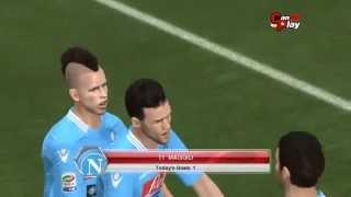 Napoli - Fiorentina  23.03.2014 [Pes 2014 Match Predictions] Full Time 3-2