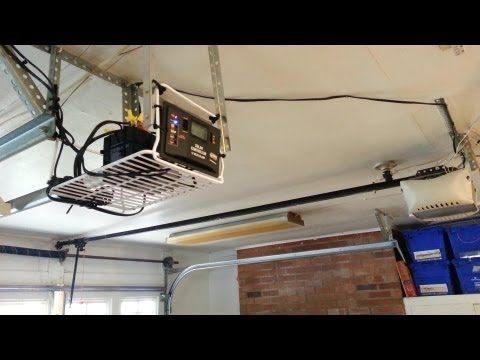 DIY Solar Powered Garage Door Off Grid Step by Step