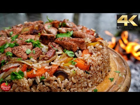 Best Pilaf Ever - Forest Cooking 4K