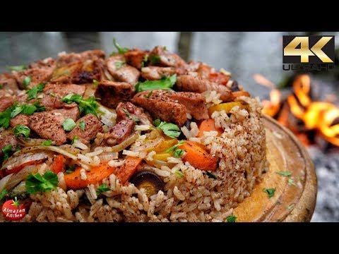 Best Pilaf Ever - Forest Cooking 4K