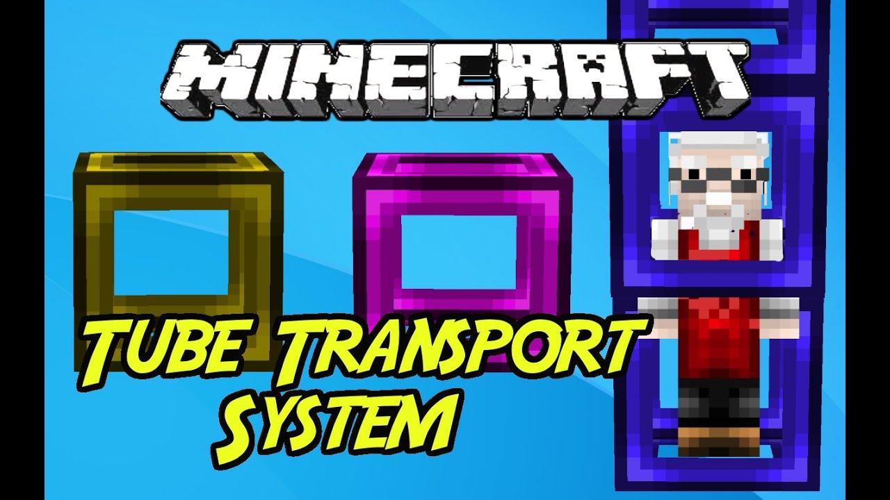 Minecraft mods quot tube transport system mod