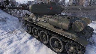 WoT T-34-85 Tier 6 Derp Gun in Tier 8 Game 4917 DMG - Windstorm