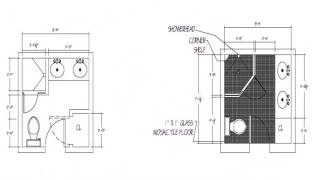 Floor Plan Of Toilet And Bath