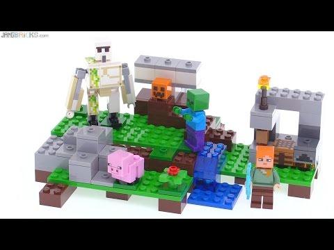 LEGO Minecraft 2016 The Iron Golem set review! 21123 - YouTube