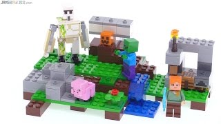 LEGO Minecraft 2016 The Iron Golem set review! 21123
